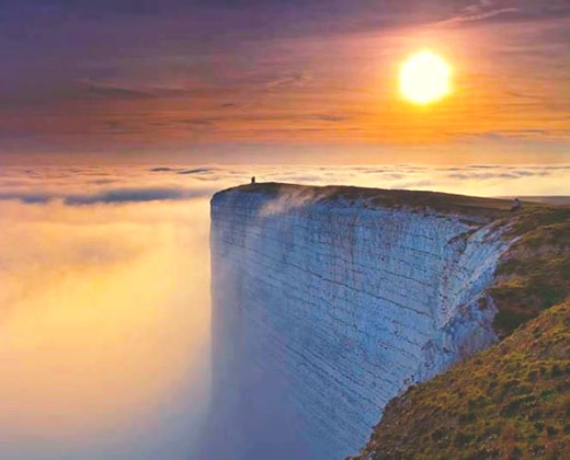 Cliffs in clouds