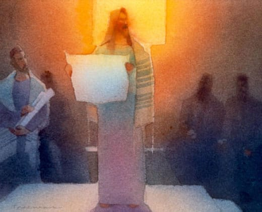 slider picture of Jesus for mystery of discipleship post